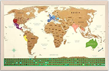World Map Us States Amazon.com: Scratch Off Map of The World   with US States Outlined
