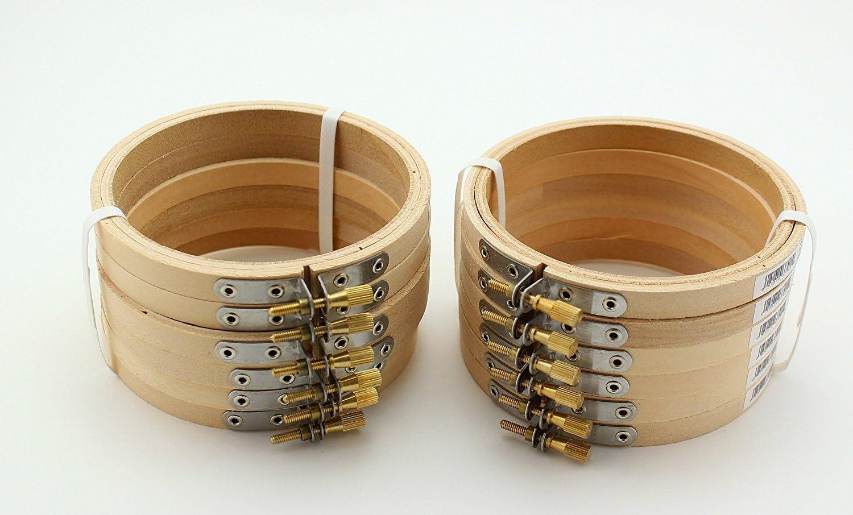 Aros De Bordado (bambu) 12 Unidades, 13cm