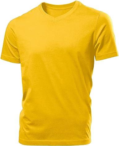 Hanes Tagless - Camiseta Básica con Cuello de Pico de Manga Corta ...