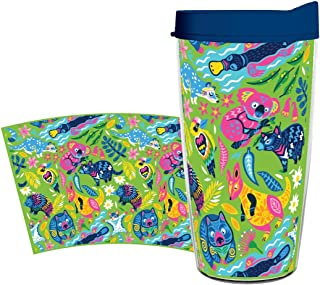 product image for Smile Drinkware USA - Eco-Friendly Drinkware - Australian Animals Collage 16oz tumbler with lid and straw