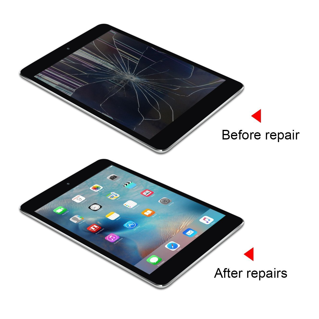 Srjtek Screen Replacement for IPad Mini 3 Touch Screen Digitizer A1599 A1600,Replacement Parts with IC Chip and Camera Holder(Black) by srjtek (Image #6)