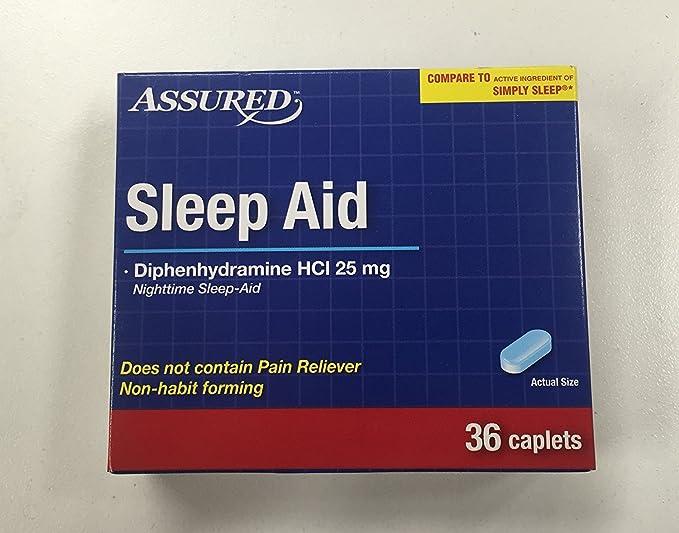Amazon.com: Assured Dormir Ayuda diphenhydramine HCI 25 mg ...