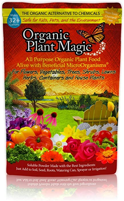 Organic Plant Magic Instant Compost Tea - 100% Organic Fertilizer - Easy to Use (One 1/2 lb Bag)