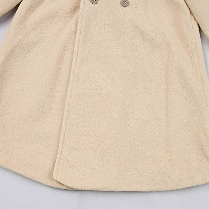 Amazon.com: Theshy Autumn Winter Girls Kids Baby Outwear Cloak Button Jacket Warm Coat Clothes Long Sleeve Outfit Clothes: Clothing