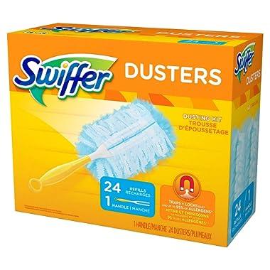 Swiffer Dusters Dusting Kit, 1 Handle & 24 Duster Swiffer Refills