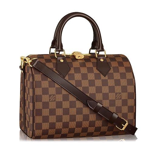 e7ed42d294c Louis Vuitton Damier Ebene Canvas Speedy Bandoulière 25 Article ...