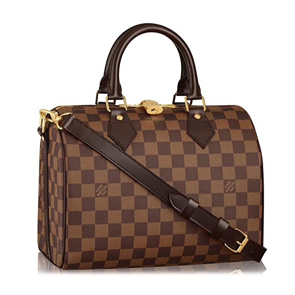 2a7481a51085 Louis Vuitton Damier Ebene Canvas Speedy Bandoulière 25 Article  N41368  Made in France  Handbags  Amazon.com