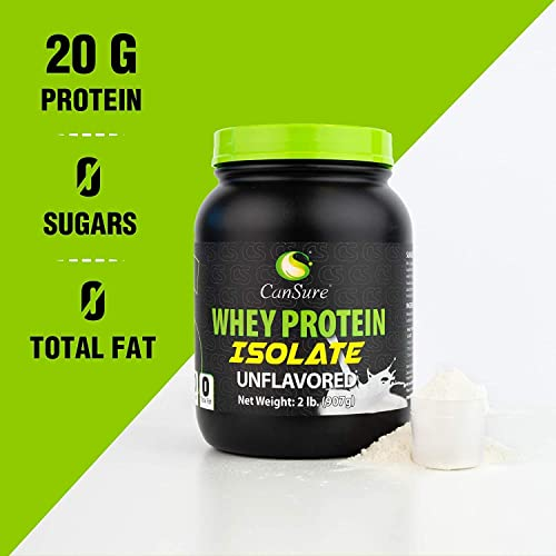 CanSure 100 Whey Protein Isolate Drink Shake Powder Unflavored