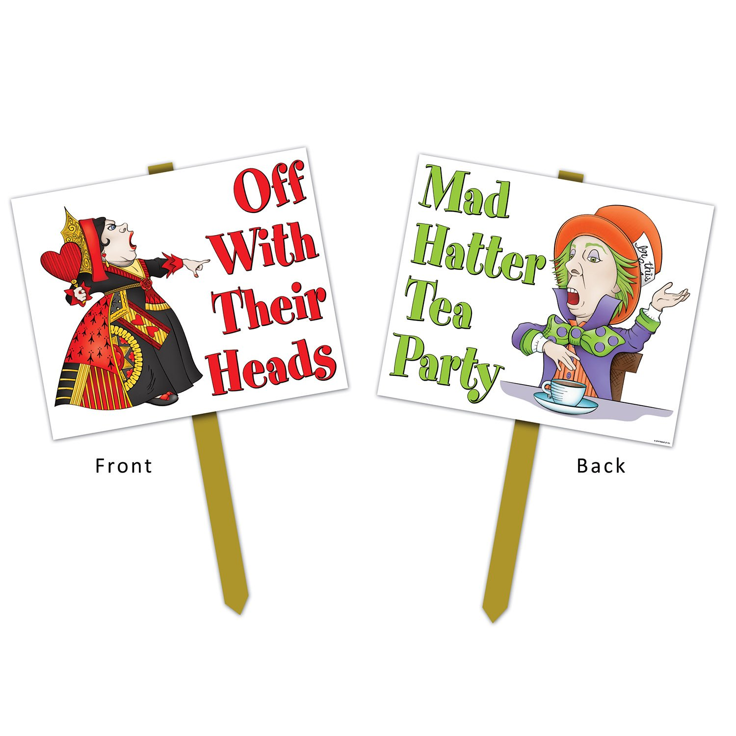 "Alice In Wonderland Yard Sign 12"" x 15"" Biestle"