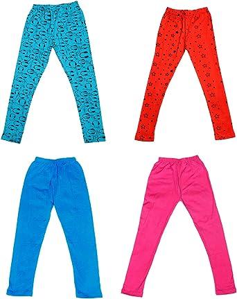 Indistar Girls Cotton Printed Leggings Pants Pack of 2
