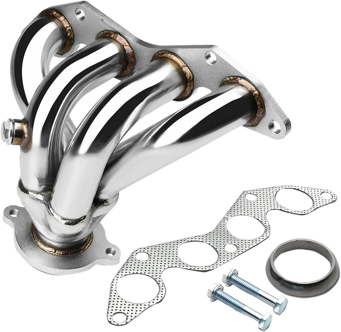 DNA motoring HDS-HC01EX Stainless Steel Exhaust Header Manifold