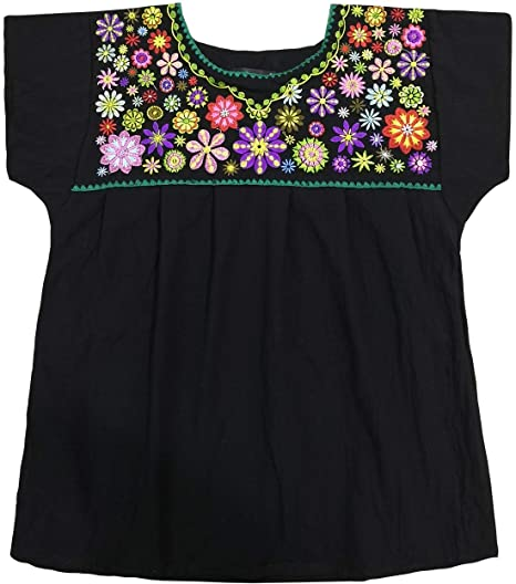 Yzxdorwj Embroidered Mexican Peasant Blouse