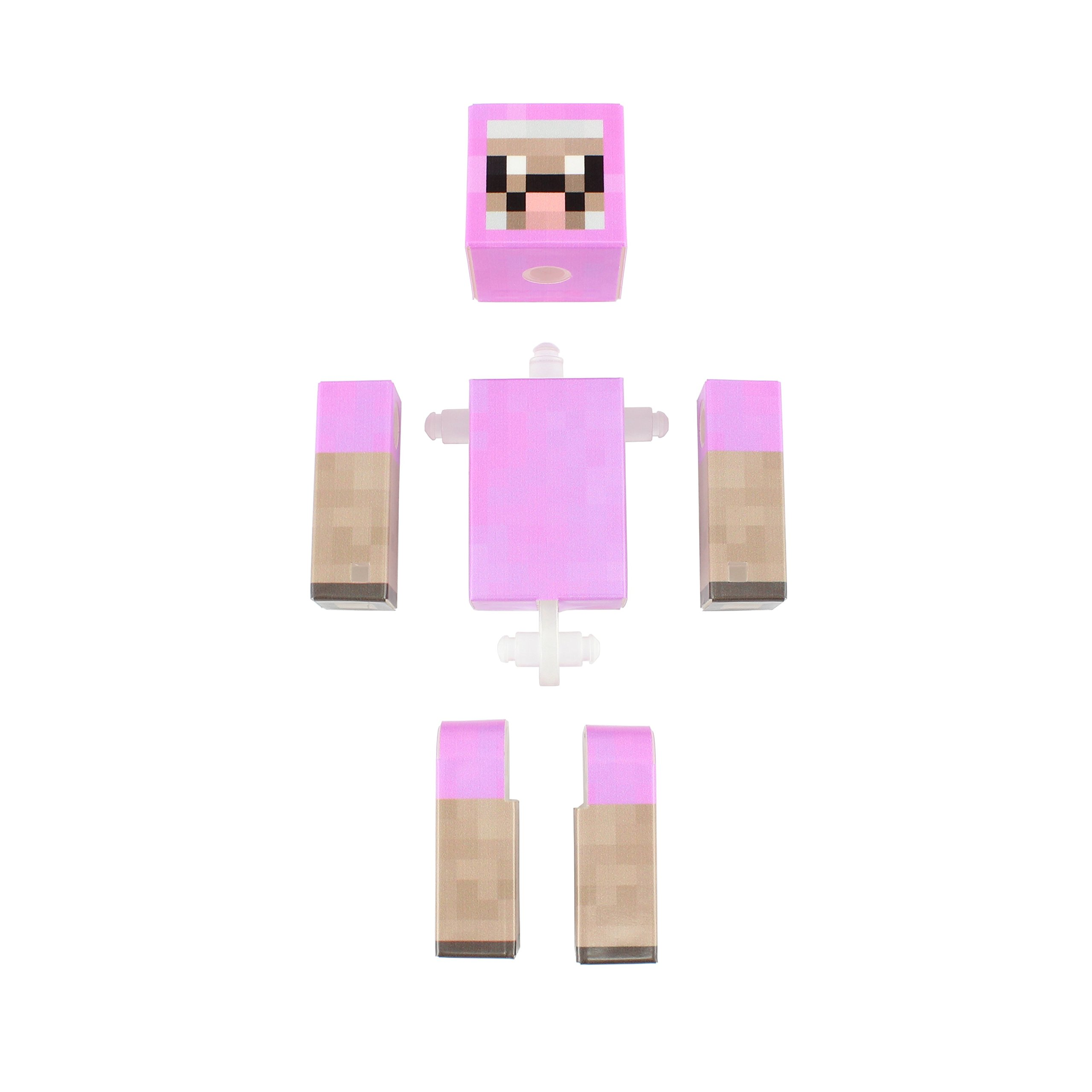 4 Inch Custom Series Figurines by EnderToys Pink Sheep Action Figure Toy