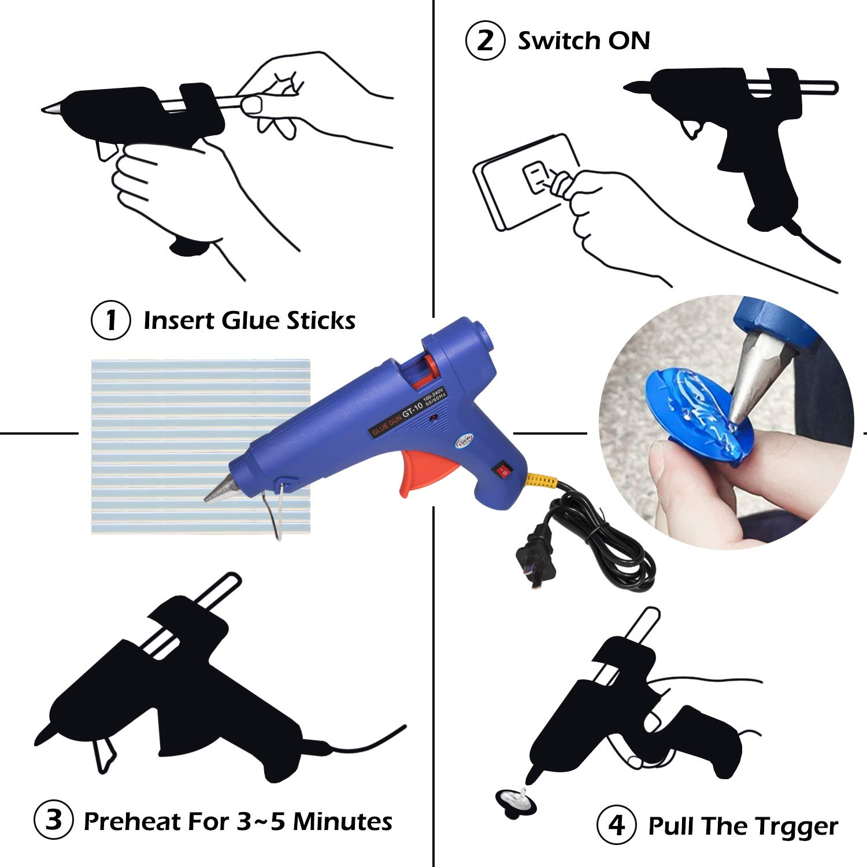 Sunluway 92 Pcs Body Paintless Black Starter Set Kits for Car Hail Damage and Door Dings Repair