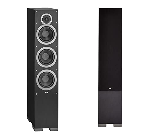 ELAC - Debut F6 Tower Speakers (Black, Pair)