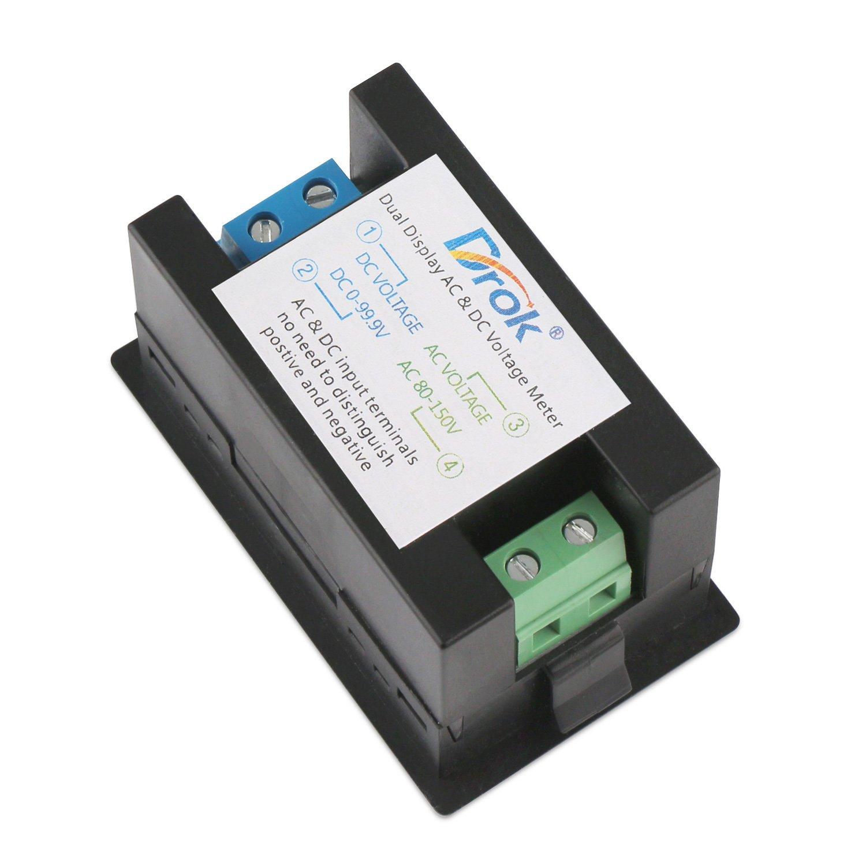 Drok 039 Led 2in1 Multimeter Ac500v 200a Voltmeter Ammeter Ac Wiring Digital Volts