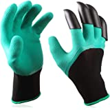 1 pair Gardening Gloves for Garden Digging Planting with 4 ABS Plastic Claws Digging Planting Latex Work Glove