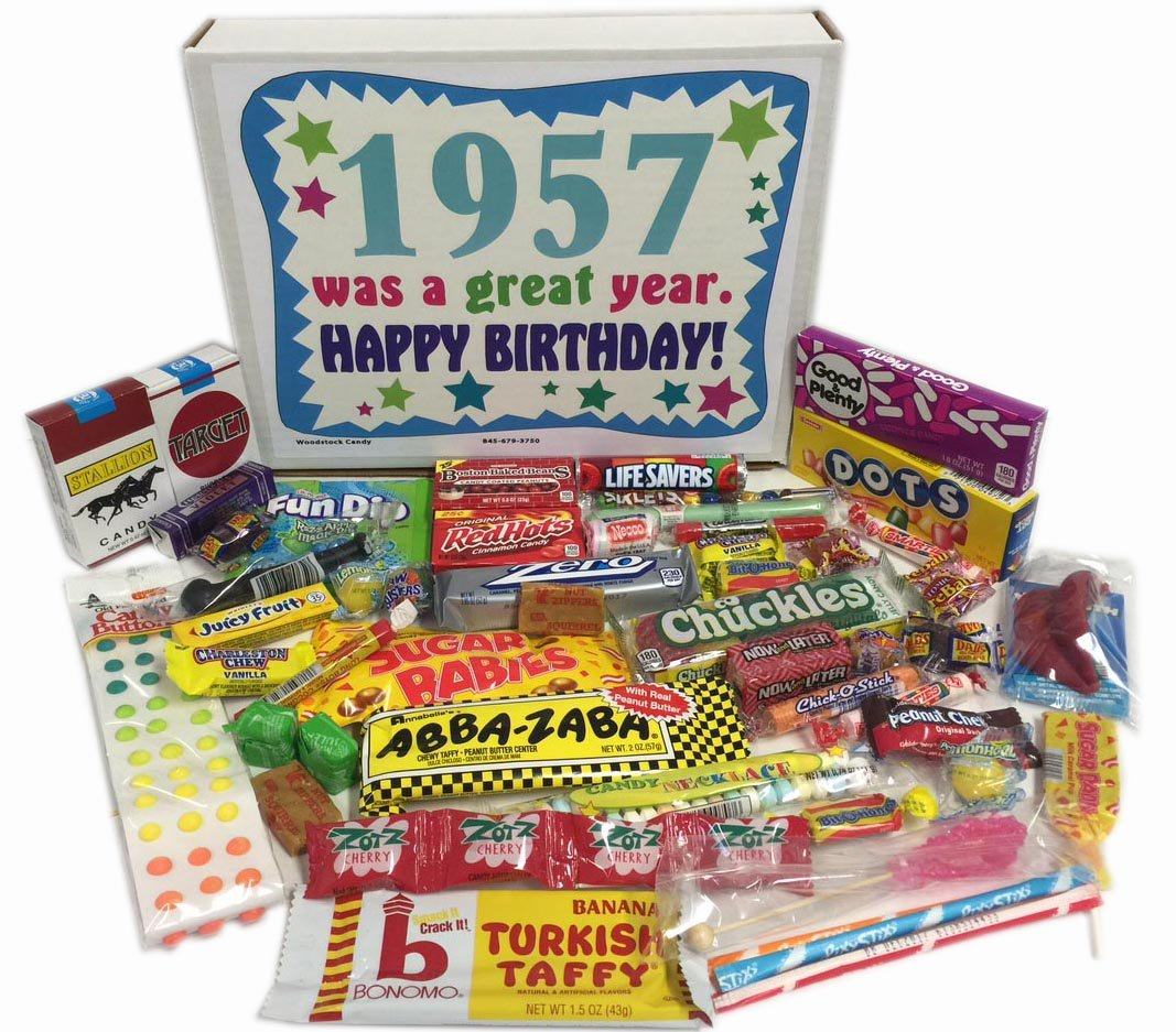 70OFF 60th Birthday Gift Box Of Nostalgic Retro Candy From