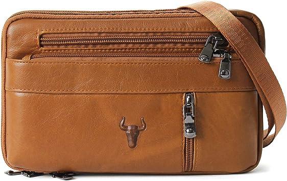 Genuine Leather Fanny Shoulder Bag Belt Loop Waist Pack Passport Mobile Travel
