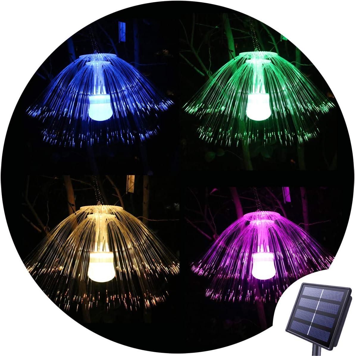 Oycbuzo - Lámpara Solar para Colgar en el árbol, Luces solares de jardín, Luces LED Que cambian de Color, Luces de Paisaje para jardín, Patio, Ventana: Amazon.es: Jardín