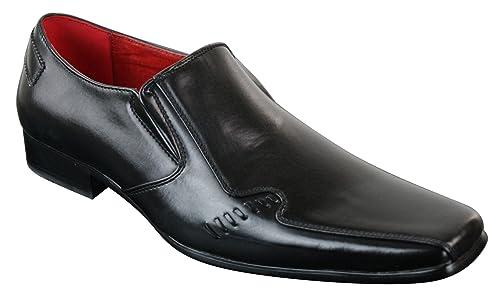 f73a25f9a42371 Chaussures homme à enfiler doublure cuir style chic habillé professionnel  marron clair noir design italien