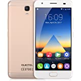 """OUKITEL K6000 Plus - 4G Smartphone Libre ( Android 7.0, 5.5"""" FHD Pantalla, Resolución 1080 x 1920, MT6750T Octa Core 1.5GHz, 4Gb Ram 64GB ROM, Dual Sim, Cámara Dual 16MP + 8MP, 6080mAh Batería, Identificación de Huellas, Inteligente Gesto ) (Oro)"""