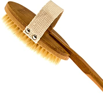 Image result for Scheme Bamboo Bath Brush For Back Scrubber