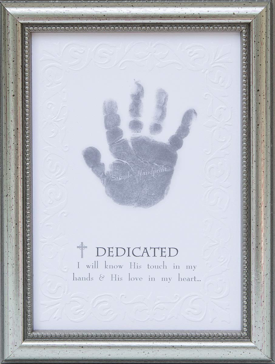 The Grandparent Gift Co. Growing in Faith Handprint Frame, Baby Dedication 5042