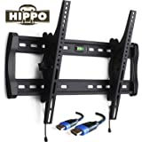 """HIPPO HP8018 TV Wall Mount Bracket for Most 42""""- 70"""" LED LCD Plasma Flat Screen TVs weighing up to 132 Lbs, VESA up to 600x400 mm, ±10 Degree Tilt , Quick Release, Security Lock, 5 ft HDMI Cable"""