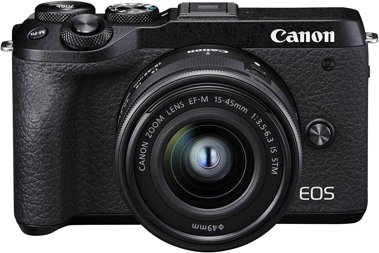 Canon EOS M6 Mark II - Cámara Mirrorless de 32.5 MP, Negro: Amazon ...