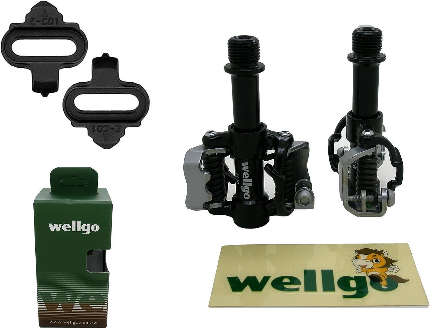 Pedales Automaticos SPD Wellgo WAM M18 de Bicicleta MTB y ...