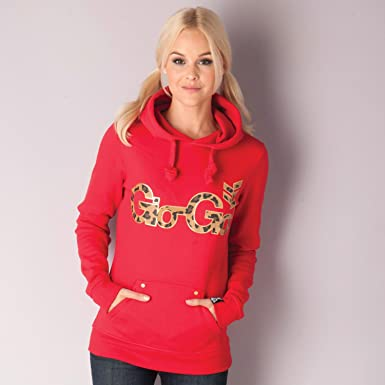 bf37aa4d1b3fde Gio-Goi Womens Womens Lanercrost Lepoard Print Logo Hoody in Red - 8: Gio  Goi: Amazon.co.uk: Clothing