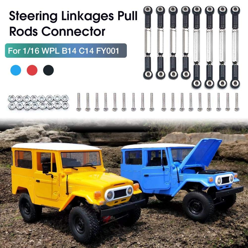 eginvic Metal Towbar Aluminum Alloy Adjustable Rod Pulling Remote Controlled Car Accessories Suitable for WPL C14 C14K C24 C24K c34 c34k perfect choice