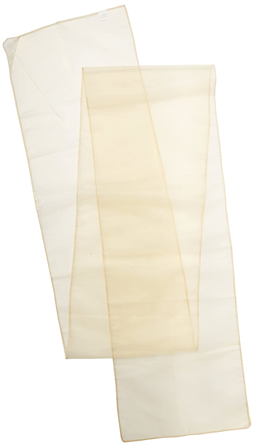LinenTablecloth 14 x 108-Inch Organza Table Runner Beige 14RNR-080121