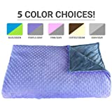 Amazon Price History for:Premium Weighted Blanket, Perfect Size(XL) and Weight(12lb) For Adults and Children. Deluxe CALMFORTER Blanket Relieves Anxiety, Stress, Agitation, Insomnia. (Lavender Field Purple/Moonshadow Gray)