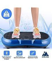 EVOLAND Plateforme Vibrante Oscillante 3D, 180 Niveaux+5 Programmes, Ecran Tactile avec Télécommande, Haut-parleurs Bluetooth, Appareil de Massage Perte de Poids, 150KG Capacité
