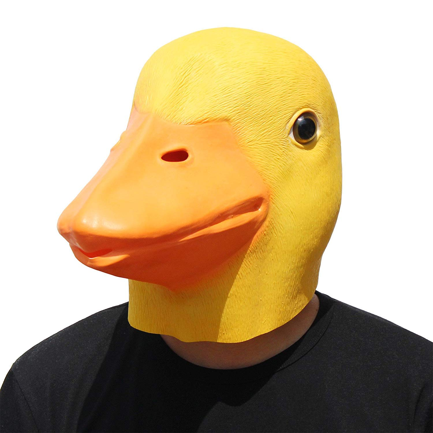 PartyHop - Duck Mask - Halloween Latex Animal Full Head Mask