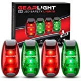 GearLight S1 LED Safety Lights [4 Pack] for Boat, Kayak, Bike, Dog Collar, Stroller, Runners and Night Running - Clip On…