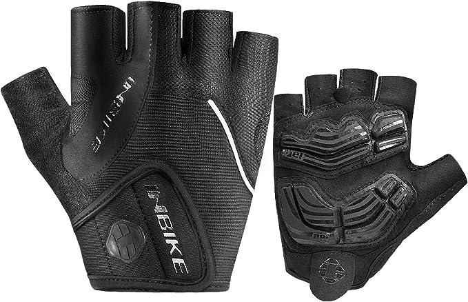 MOREOK Cycling Gloves Bike Gloves,5MM SBR+Gel Padded Shock-Absorbing Bicycle Gloves Anti-Slip Breathable MTB Road Biking Gloves for Men//Women