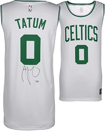 new styles c9a00 d4117 Jayson Tatum Boston Celtics Autographed Fanatics White ...
