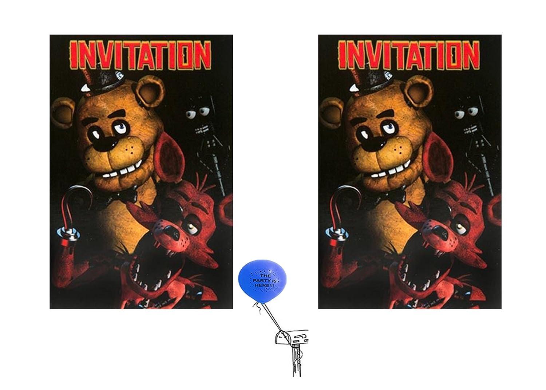 Five Nights At Freddys Invitations 16 Guest Partysupplybyspursgrl