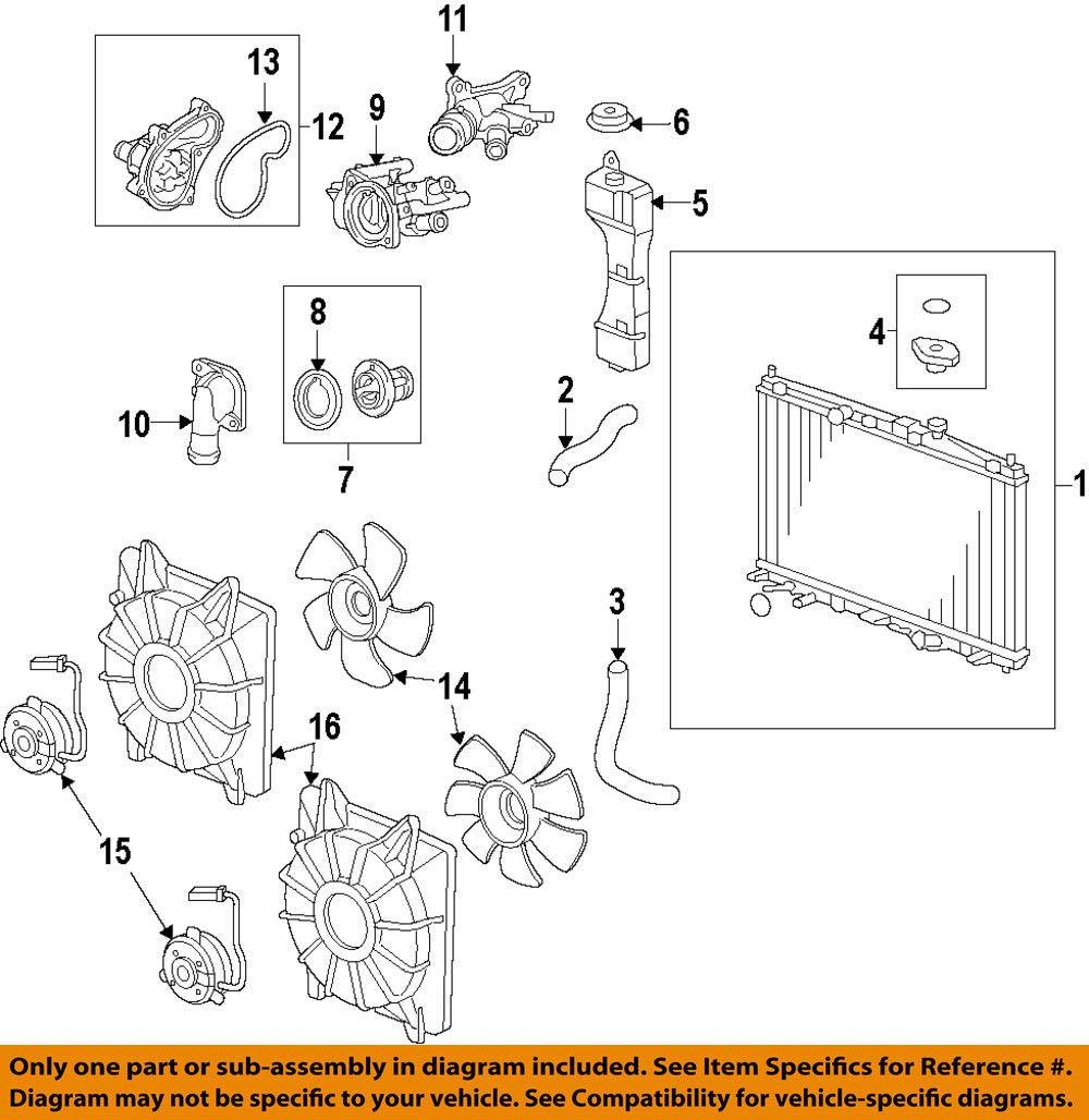 Genuine Honda 38615-R1A-A02 Fan Shroud