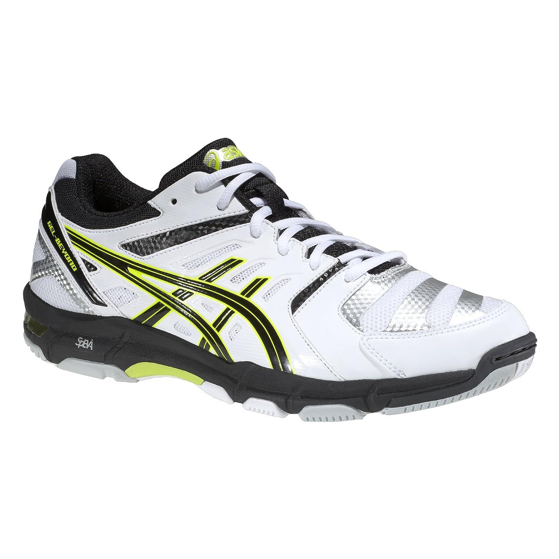 ASICS Gel-Paire de Chaussures de Volleyball pour Homme Beyond 4,Blanc/Noir/Jaune,49(US14)