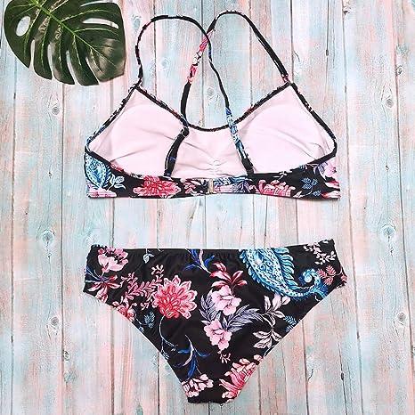 Luckycat Traje de Baño Mujer Bikini de Dos Piezas Sexy Traje de Baño de Las Mujeres Conjunto Push-ups Bikini Playa 2018: Amazon.es: Ropa y accesorios