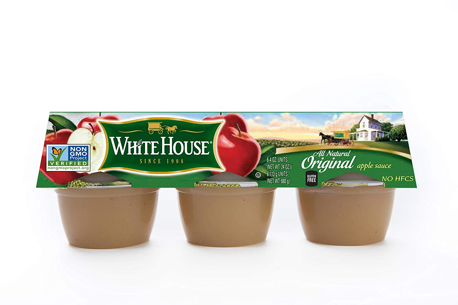 White House Regular Apple Sauce in Cup, 4 Ounce -- 72 per case.