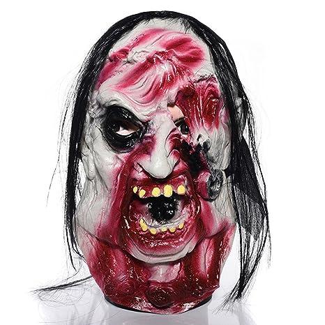 Cara Del Fantasma Máscara Festival Masquerade Horror Grimace Auriculares De Látex Cuerpo Entero Máscara Del Demonio