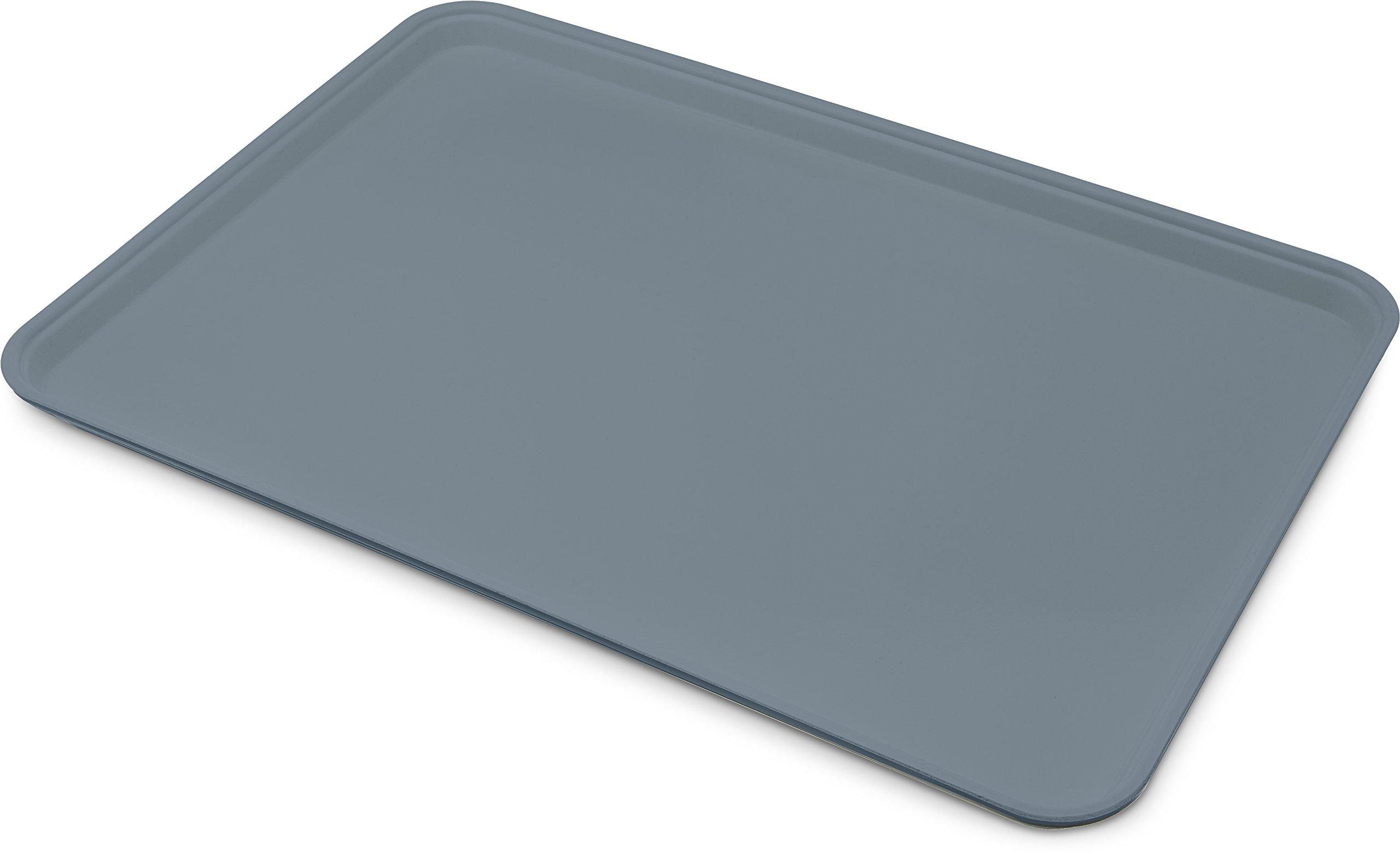 Carlisle 1318FG067 Fiberglass Glasteel Solid Display/Bakery Tray, 17.75'' x 12.75'', Slate Blue (Case of 12)