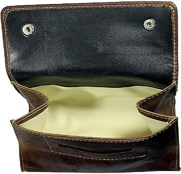 Bolsa De Tabaco Maryland | Cuero De Búfalo | Estuche De Cigarillos Caja Hombre Femme Marrón | by Alpenleder: Amazon.es: Equipaje
