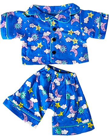 14fc4aa609e Stuffems Toy Shop Sunny Days Blue Pj s Teddy Bear Clothes Outfit Fits Most  14