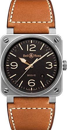Bell And Ross Watches >> Amazon Com Bell Ross Aviation Mens Automatic Watch Br 03